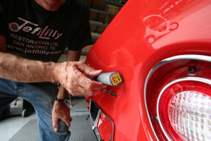 Block sanding on an antique, vintage or classic car or truck step 13
