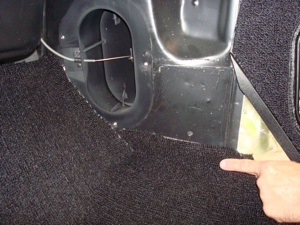 How to install carpet in an antique, vintage, old, used or classic car or truck - step 34
