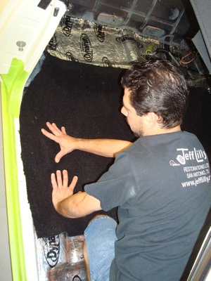 How to install carpet in an antique, vintage, old, used or classic car or truck - step 6