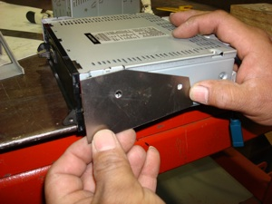 Installing a radio or CD player in the dash of an antique, vintage or classic car or truck step 18