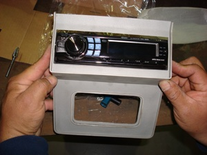 Installing a radio or CD player in the dash of an antique, vintage or classic car or truck step 20