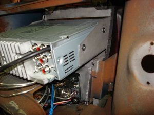 Installing a radio or CD player in the dash of an antique, vintage or classic car or truck step 24