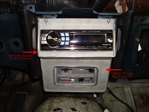 Installing a radio or CD player in the dash of an antique, vintage or classic car or truck step 25