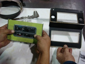 Installing a radio or CD player in the dash of an antique, vintage or classic car or truck step 6