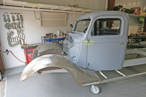 How to repair hinges and align doors on antique, vintage, old, used or classic cars or trucks - step 1