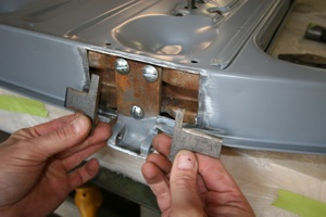 How to repair hinges and align doors on antique, vintage, old, used or classic cars or trucks - step 7