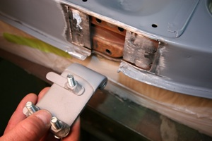 How to repair hinges and align doors on antique, vintage, old, used or classic cars or trucks - step 8