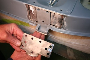 How to repair hinges and align doors on antique, vintage, old, used or classic cars or trucks - step 9