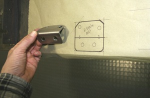 How to relocate the emergency brake handle on antique, vintage, old, used or classic cars or trucks - step 5