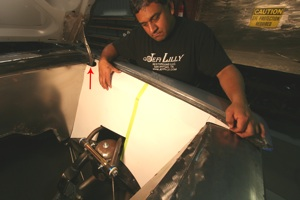 Building a custom egnine compartment for your antique, vintage, old, used or classic car or truck - step 25