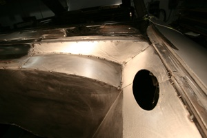 Building a custom egnine compartment for your 3ntique, vintage, old, used or classic car or truck - step 44