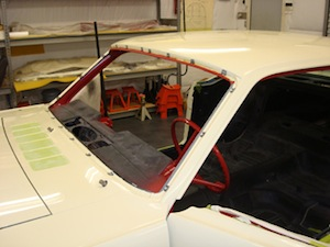How to replace windshield glass in an antique, vintage, old, used or classic car or truck - step 2