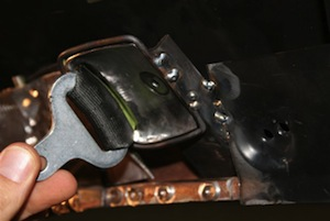 How to make hidden seatbelt retractors for an antique, vintage, old, used or classic car or truck - step 25