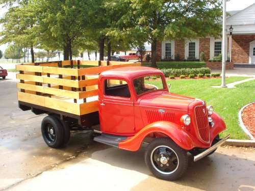 1935 Ford Flatbed Stake Truck