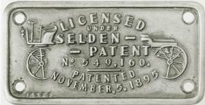 George Selden Patent plate